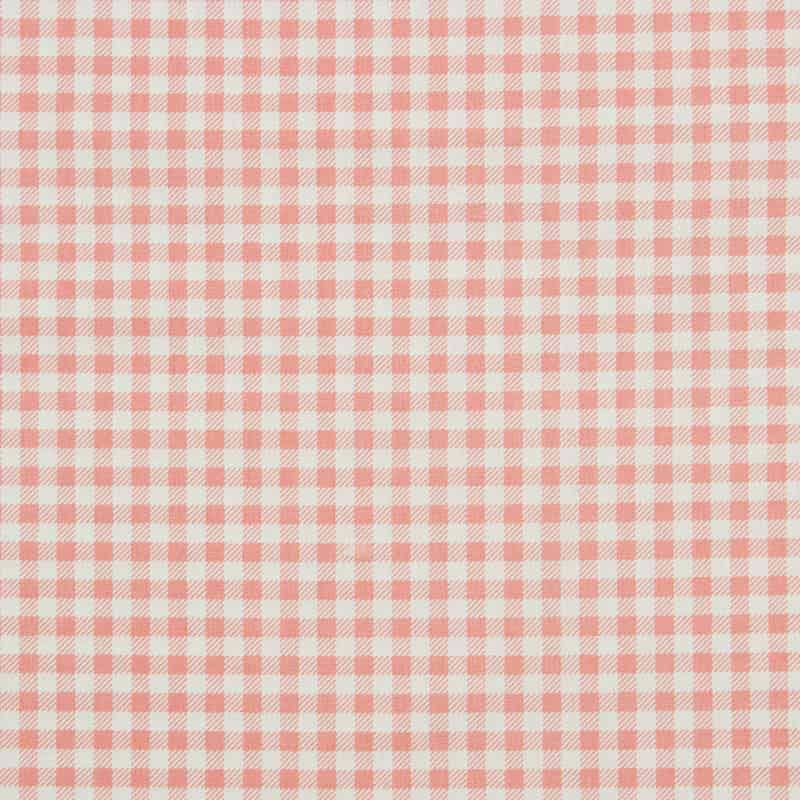 Tecido Tricoline Estampado - Xadrez Rosa - 50cm X150cm