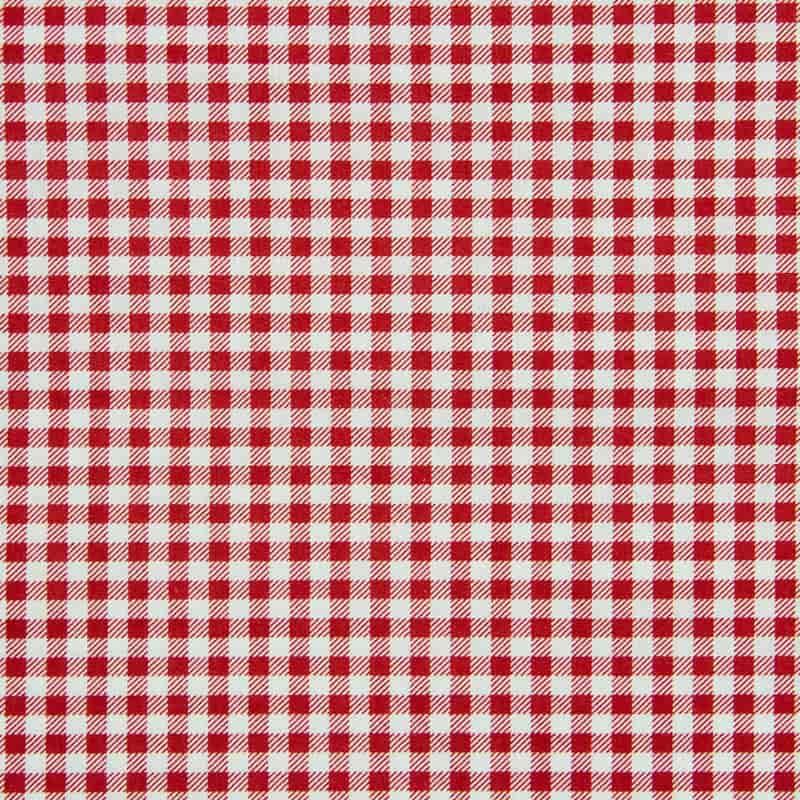 Tecido Tricoline Estampado - Xadrez Vermelho - 50cm X150cm