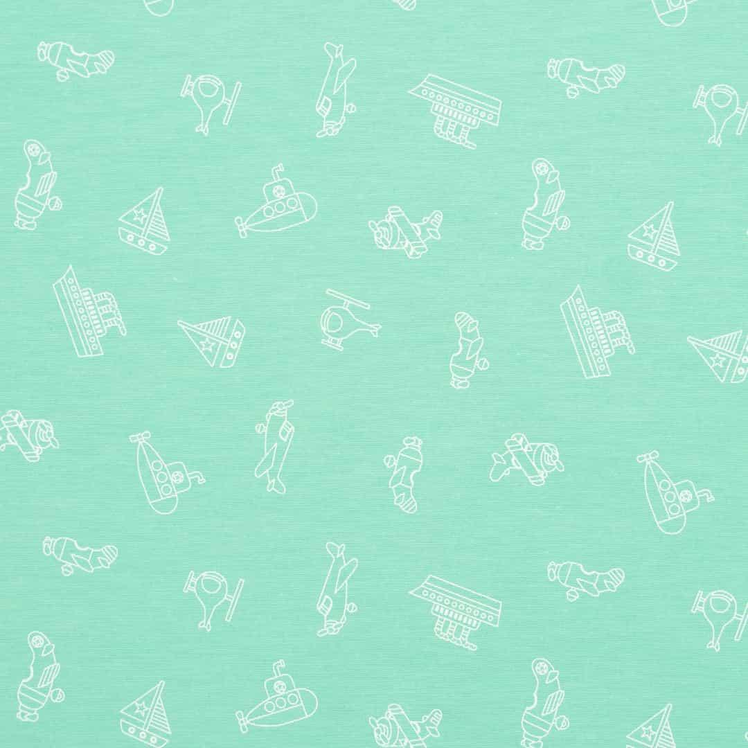 Tecido Tricoline Misto Estampado - Brinquedos Tiffany - 50cm X150cm