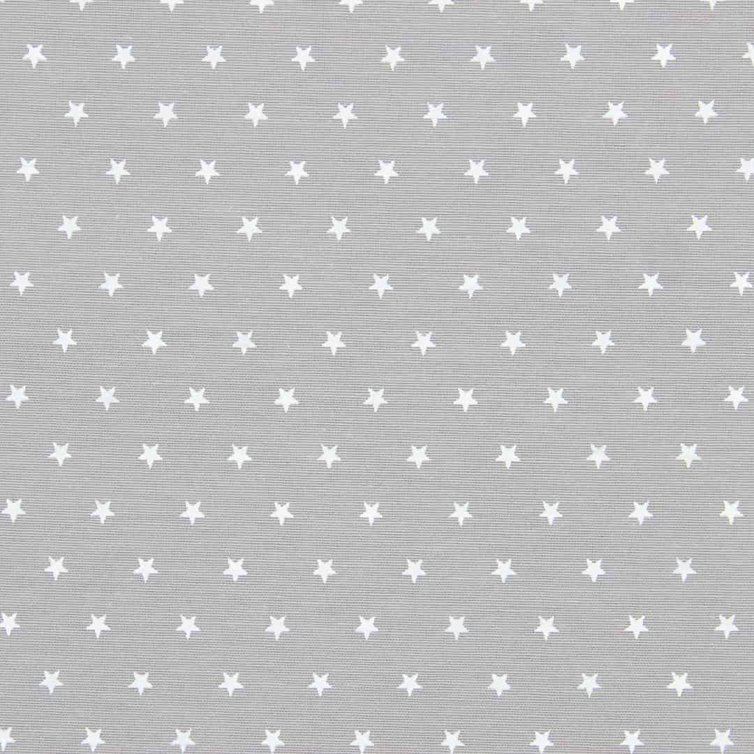 Tecido Tricoline Misto Estampado - Estrelinhas Cinza - 50cm X150cm