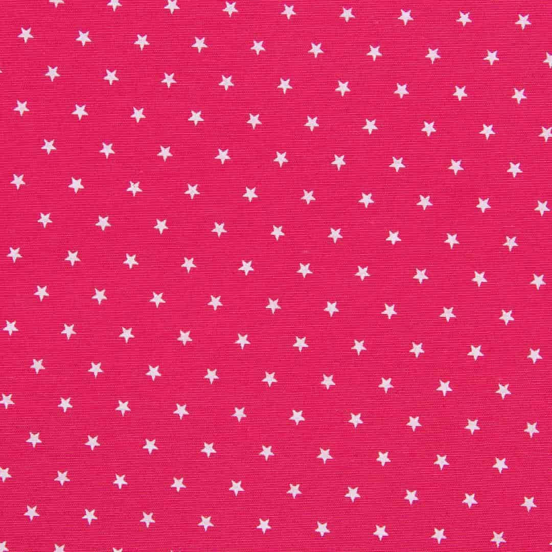Tecido Tricoline Misto Estampado - Estrelinhas Rosa Chiclete - 50cm X150cm