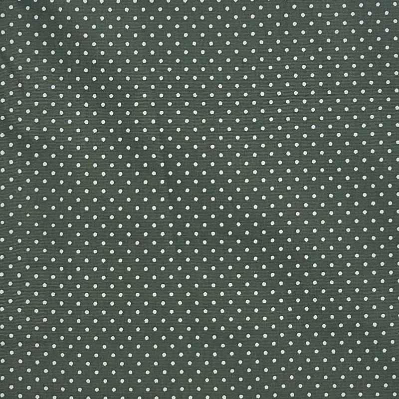 Caldeira - Estampa Poá Fundo Verde Musgo - 50cm x 150cm