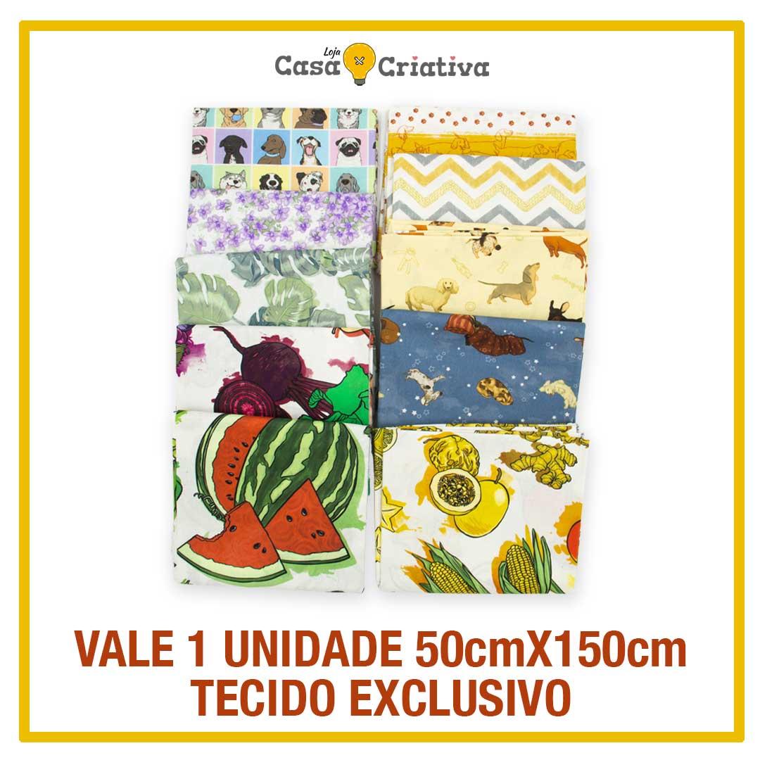 VALE 1 UNIDADE TECIDO CASA CRIATIVA - 50cm X150cm