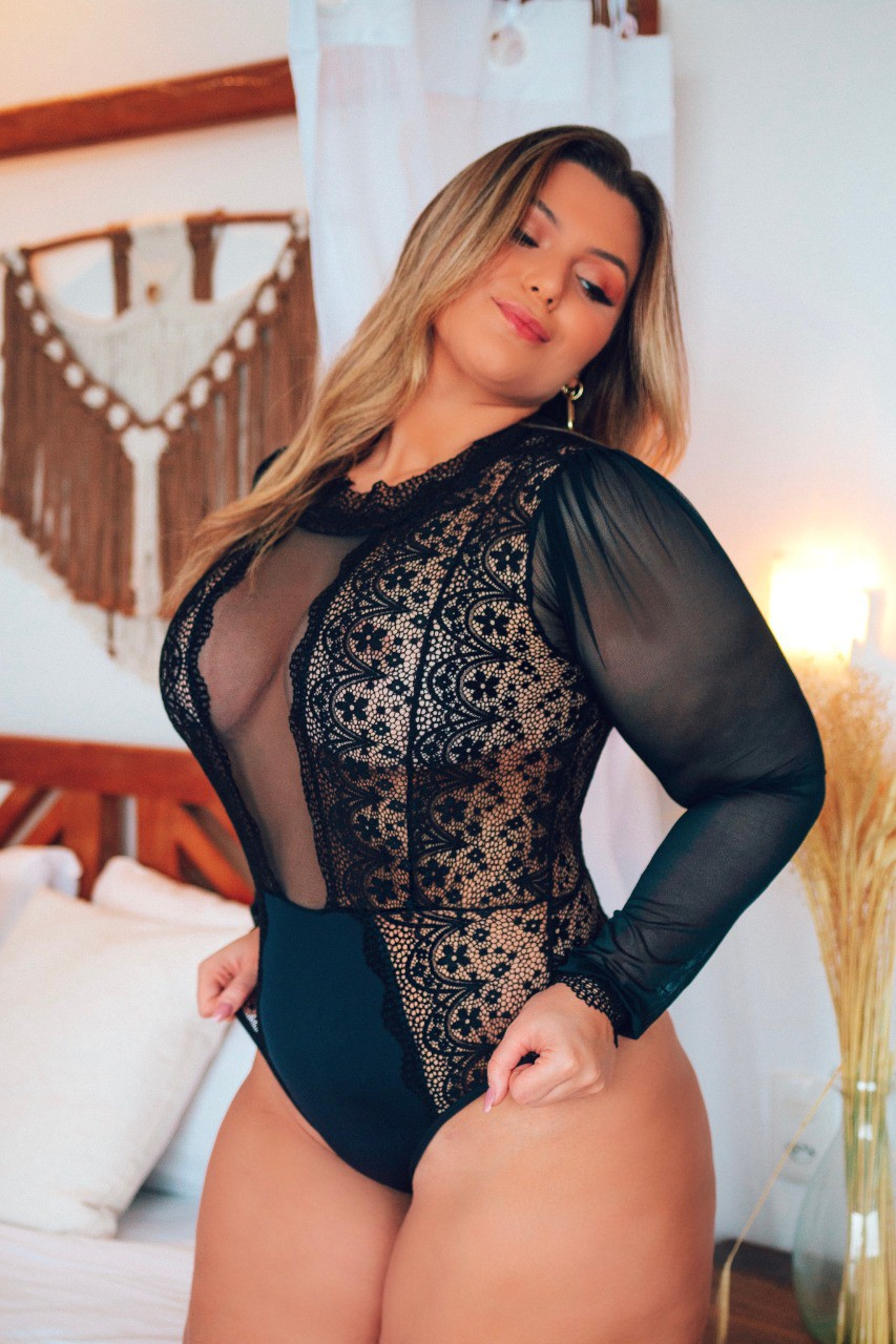 Body Plus Size Manga Longa Curves - Segredo Lacrado