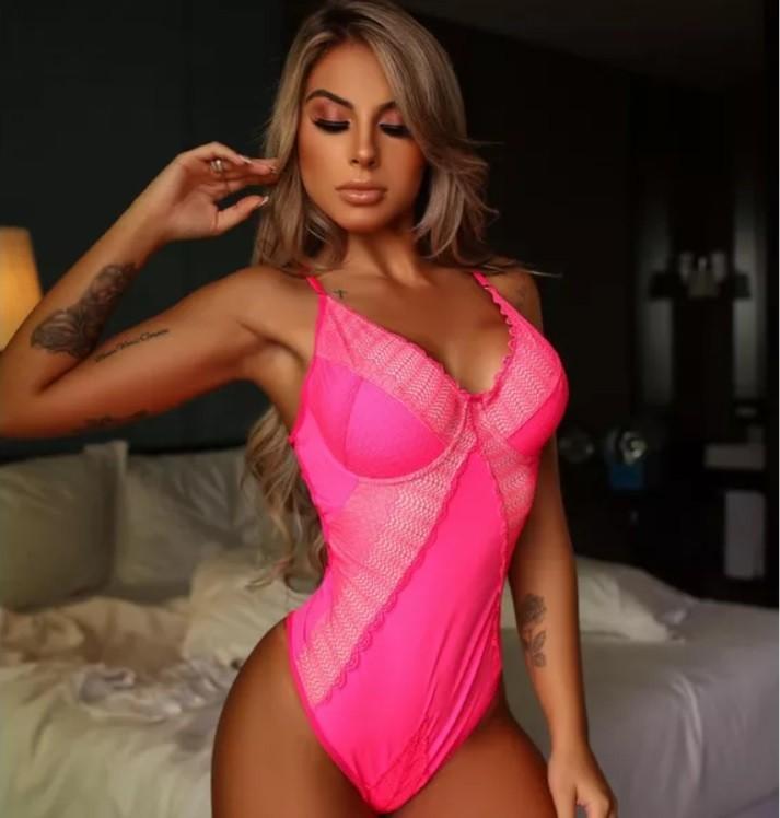Body Tendência Pink Neon - Segredo Lacrado