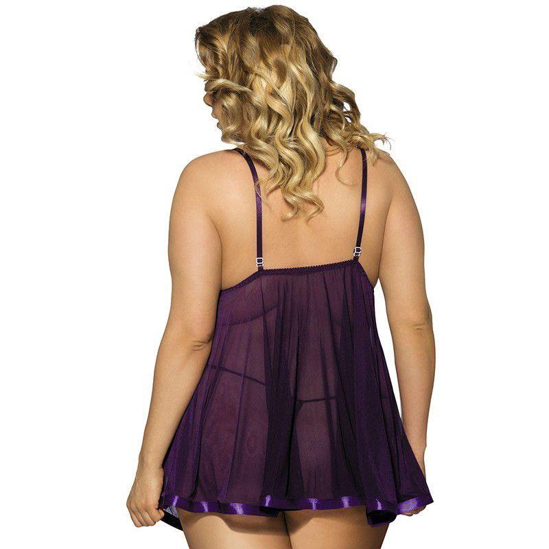 Camisola Plus Size Sensual Bangkok (Tamanho 5XL - Veste Manequins 48 e 50)