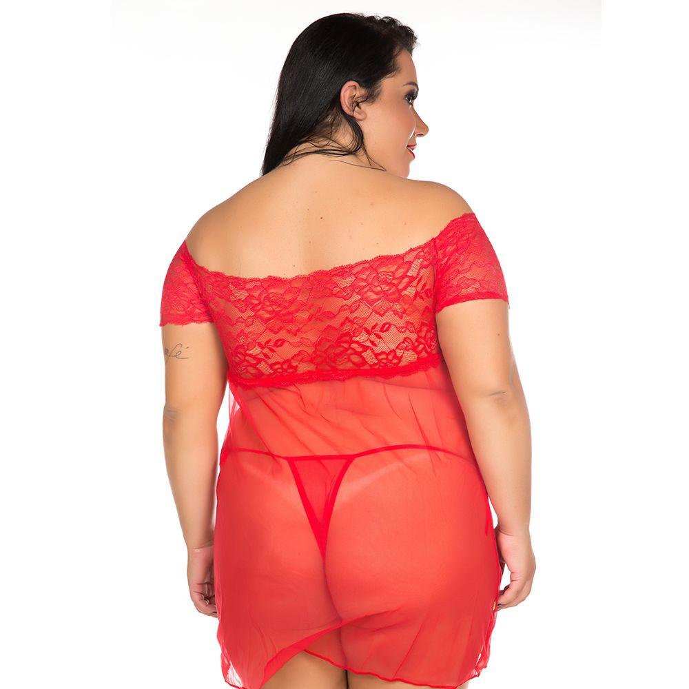 Camisola Plus Size Sensual Gabriela (Veste 46 e 48)