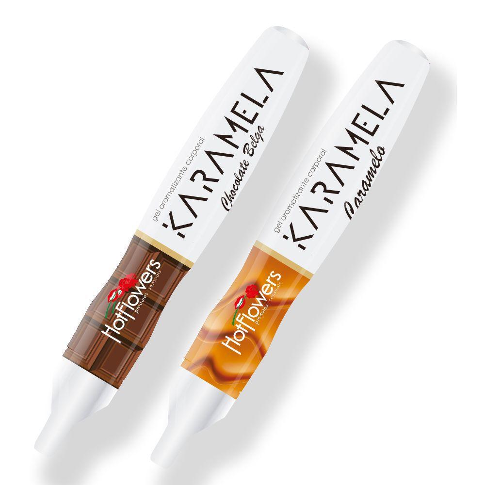 Caneta Hot Pen Karamela Comestível - Sabor Chocolate Belga - 35 G - Hot Flowers