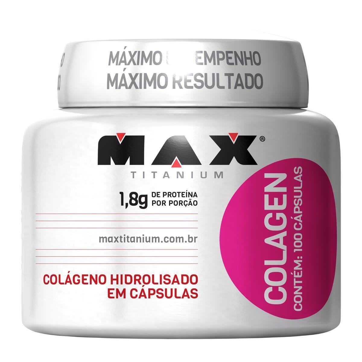 Cápsulas de Colágeno Colagen 100 Cápsulas - Max Titanium