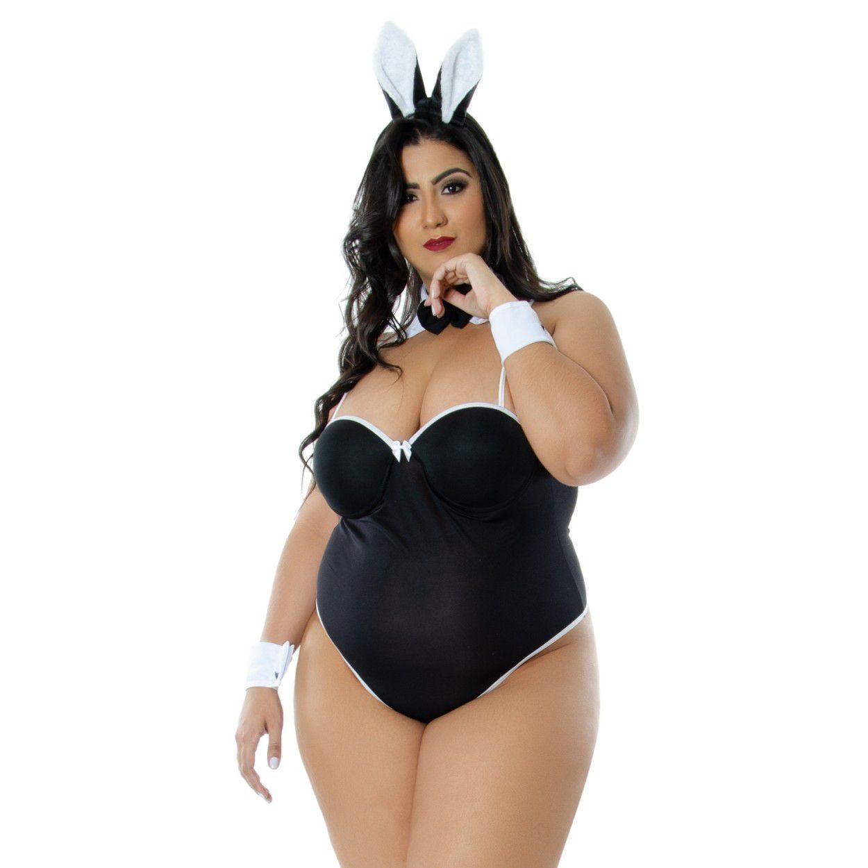 Fantasia Coelha Electra Plus Size (Veste Manequins 44 ao 50)