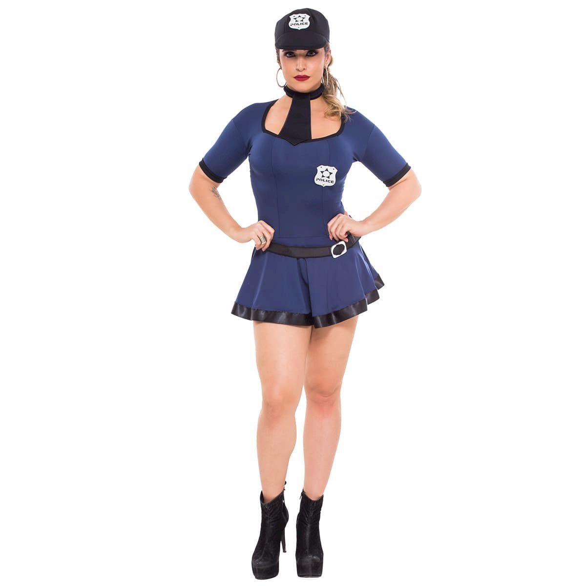 Fantasia Policial Violeta (Veste Manequins 38 ao 42)