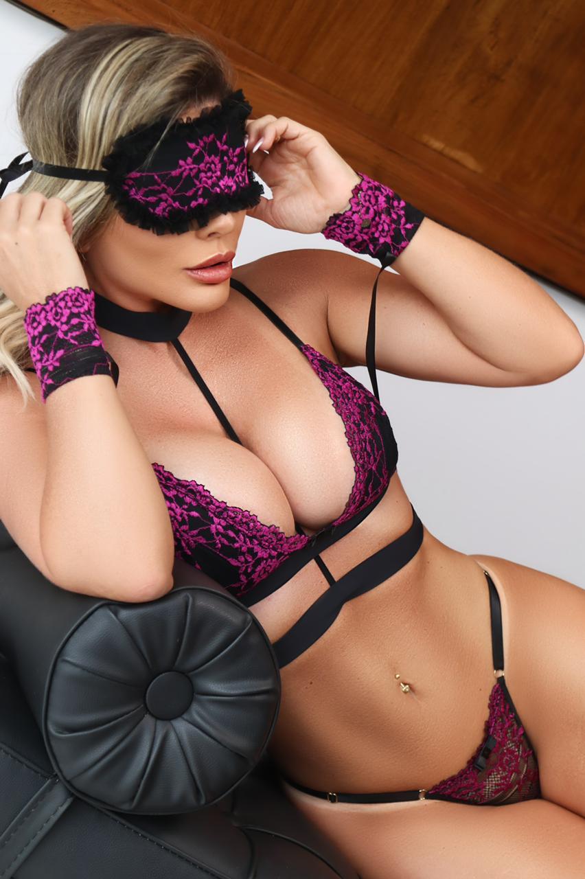Kit Algema e Tapa-Olhos Sexy Glam - Segredo Lacrado