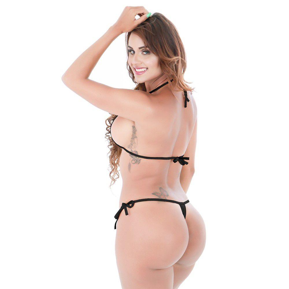 Microquíni BDSM Noir (Veste 36 ao 46)