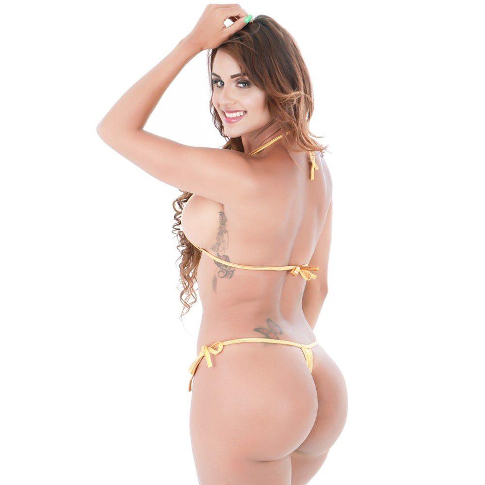 Microquíni Dubai Dourado (veste Manequins 36 A 46)