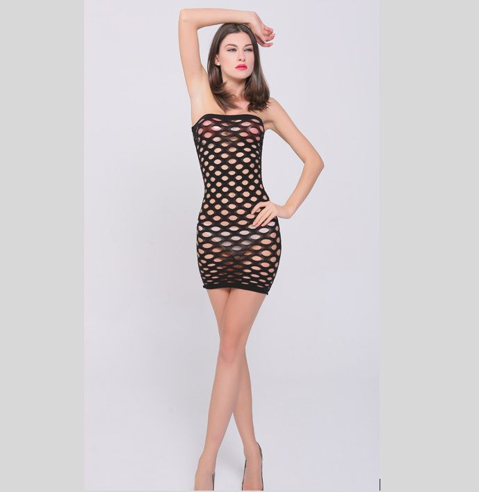 Minivestido Plus Size Arrastão (Veste Manequins 46 a 54)