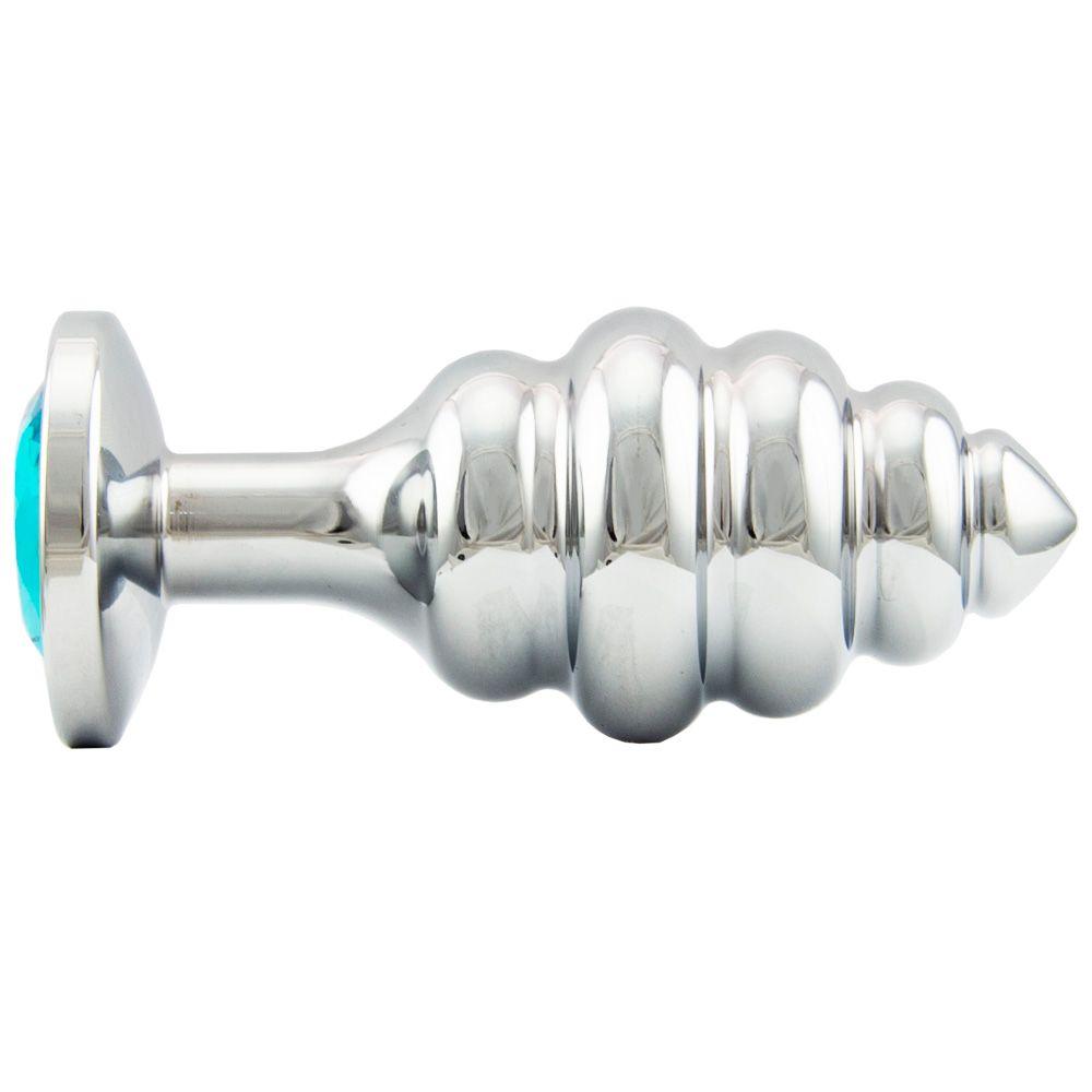 Plug Anal Aço Inox Escalonado 9 X 3,8 CM – 140 G – Gtoys