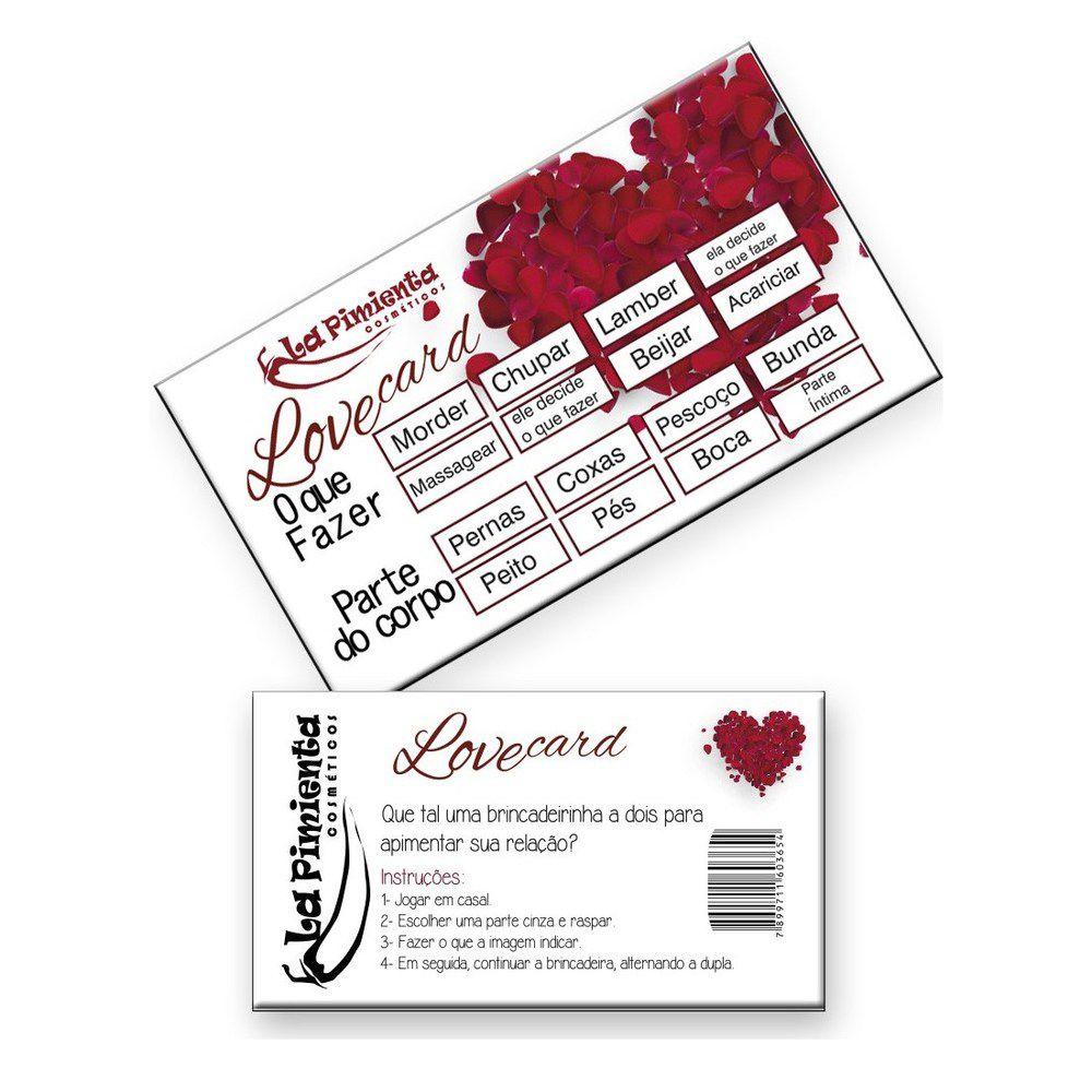 RASPADINHA LOVE CARD 5 UNIDADES