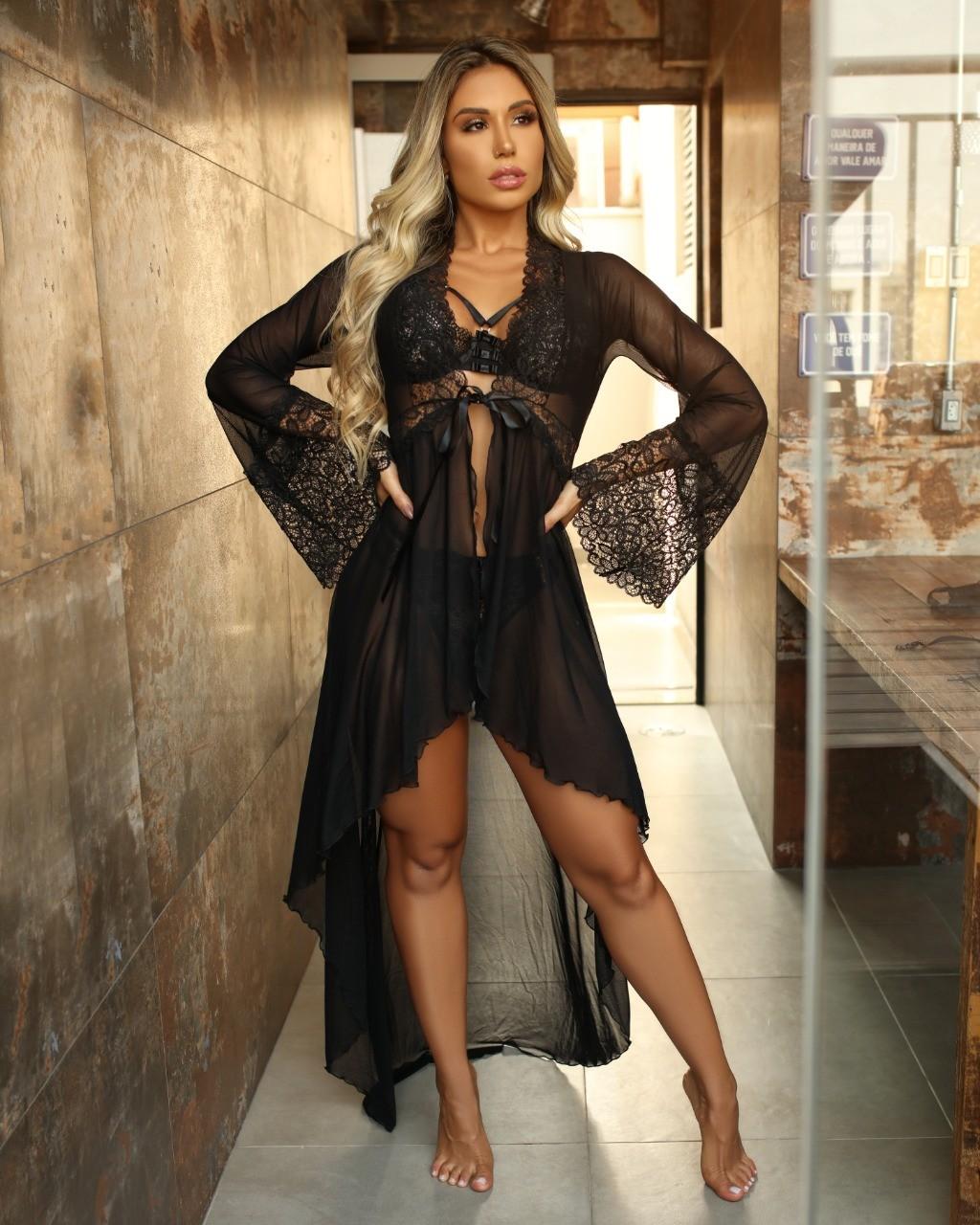 Robe Longo Luxo Preto - Segredo Lacrado
