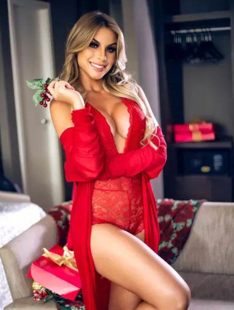 Robe Longo Luxo Vermelho - Lingerie Segredo Lacrado