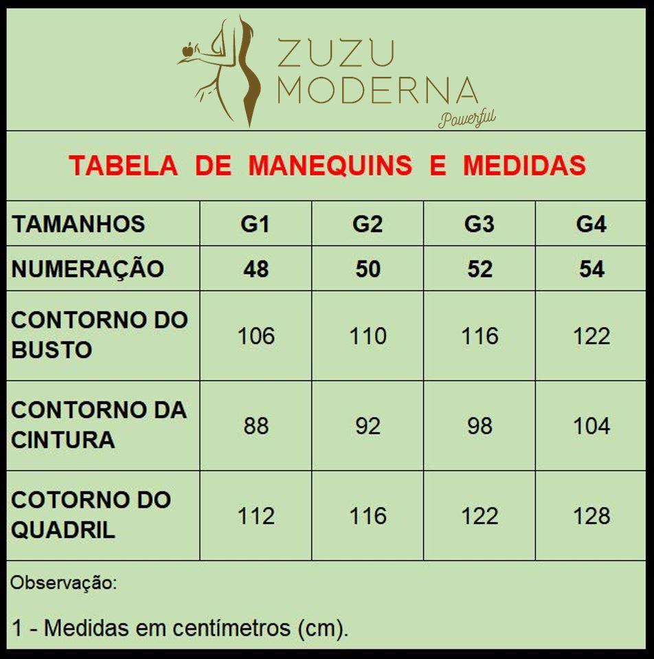 Robe Plus Size Com Frente Curta (Tam. G1 - Veste Manequim 48) - TMI