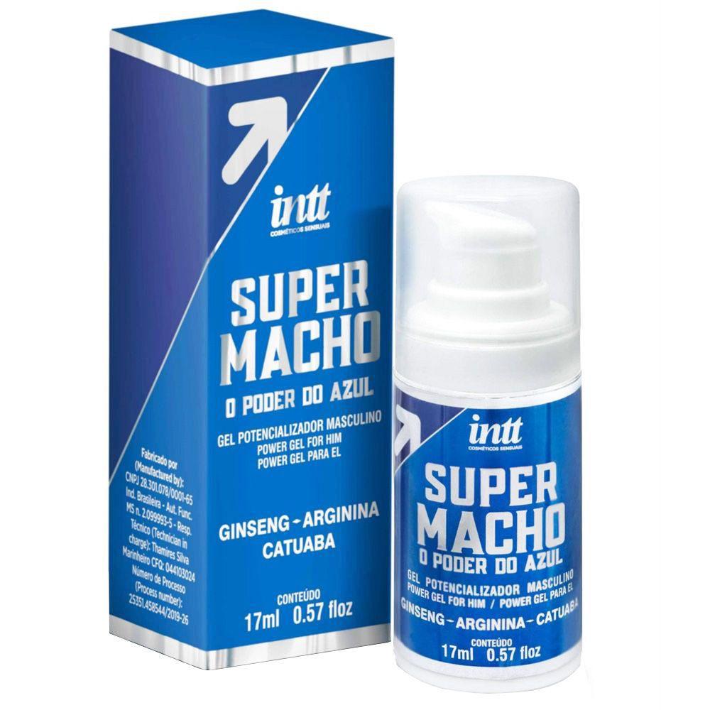 Super Macho Gel - O Poder do Azul - 17 ml - Intt