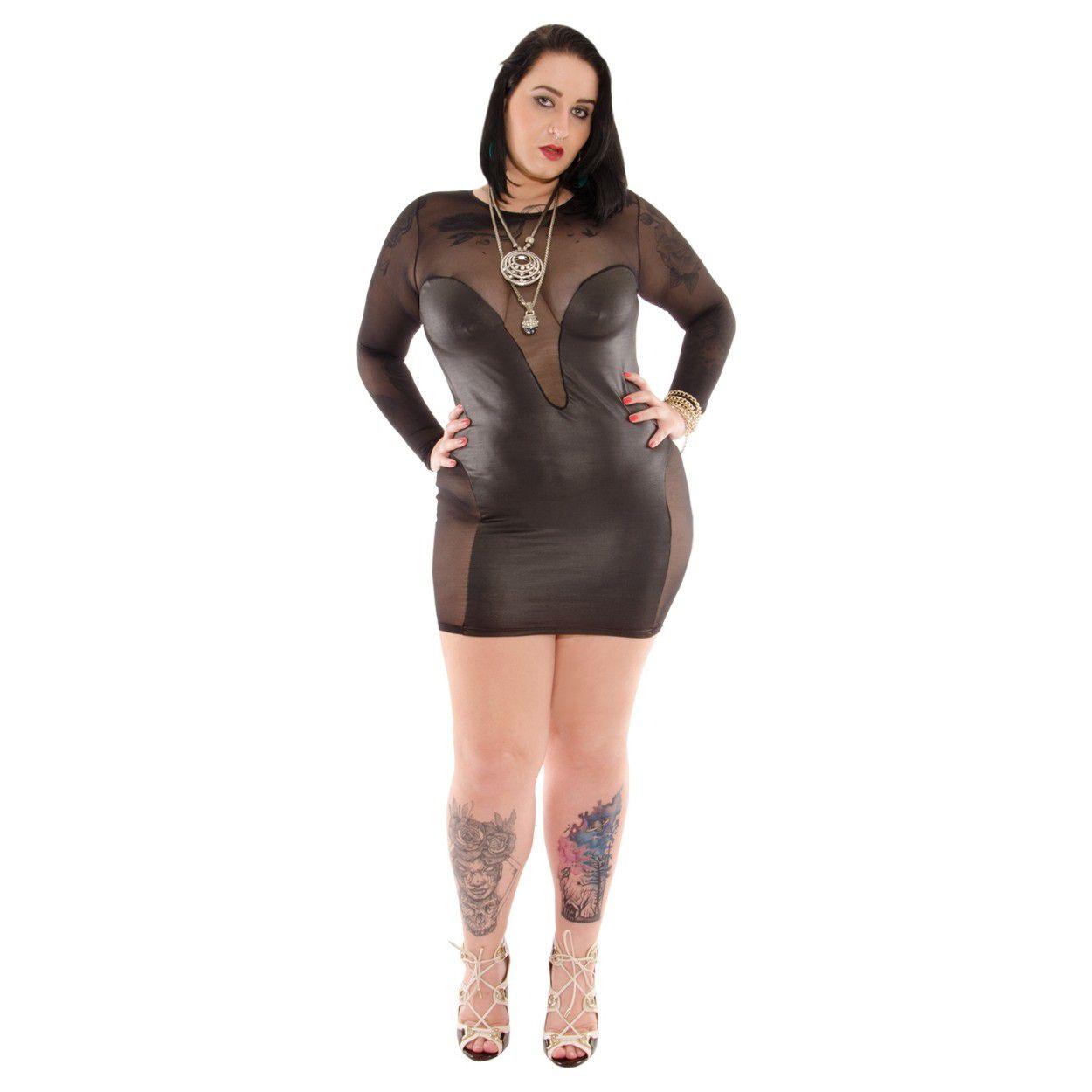 Vestido Curto Satine Plus Size (Veste 44 a 48)