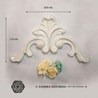 Aplique arabesco Imperial 15x23x2 - resina  ARA 020