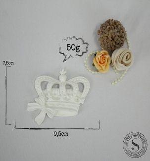 Aplique Coroa Com Laço Pequena (7,5x9,5)     SG Resinas            ref: CVA003