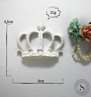 Aplique Coroa Princesa Média (6,5x8)  SGResinas Ref: CVA006