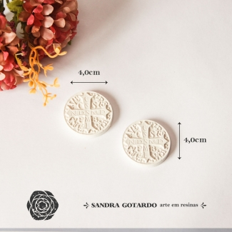 Aplique Medalha Espirito Santo (2un) - ES072 - Sandra Gotardo