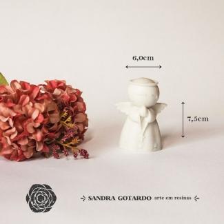 Aplique Resina Anjo 3D - AS031 - Sandra Gotardo