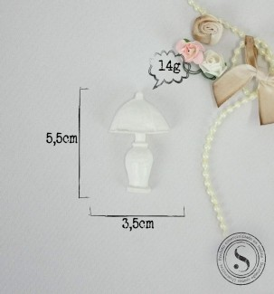 Aplique Resina Aplique Abajur M 5,5X3,5X2 - resina  BP 013 - Sandra Gotardo