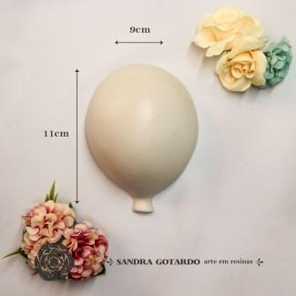 Aplique Resina Aplique balão G 11x9x5 - resina AI043 - Sandra Gotardo