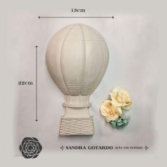 Aplique Resina Aplique balão gás Grande 22x13x6 - resina AI 045 - Sandra Gotardo