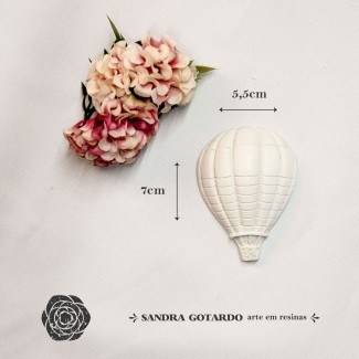 Aplique Resina Aplique balão gás Médio 7x5,5x2 - resina AI 041 - Sandra Gotardo