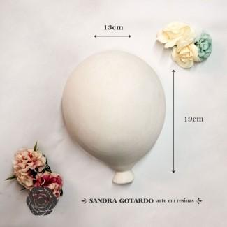 Aplique Resina Aplique Balão GG 19x13x9 - resina AI 044 - Sandra Gotardo