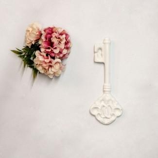 Aplique Resina Aplique chave colonial 11x4x1 - resina CHA 004 - Sandra Gotardo