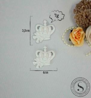 Aplique Resina Aplique coroa Com Laço Pequena (3,5x4) SG Resinas Ref: CVA 004 - Sandra Gotardo