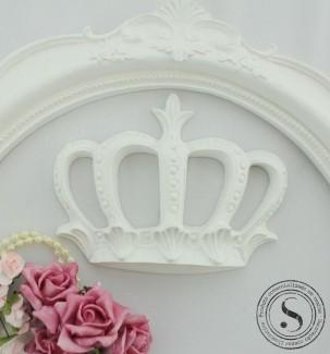 Aplique Resina Aplique Coroa Princesa Grande (12x9) SG Resinas Ref CVA001 - Sandra Gotardo