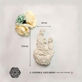Aplique Resina Aplique Jesus agua Batismal 10x6x3 - resina  ES 043 - Sandra Gotardo