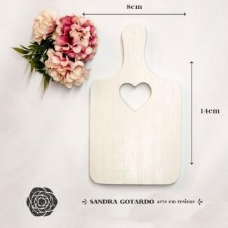 Aplique Resina Aplique tabua de corte 14x8x1- resina CZ 014 - Sandra Gotardo