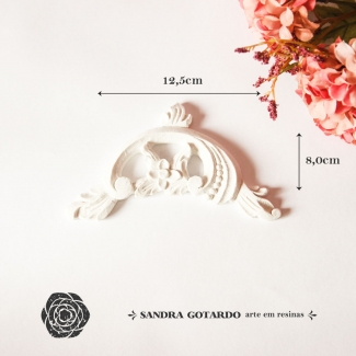 Aplique Resina Arabesco - ARA022 - Sandra Gotardo