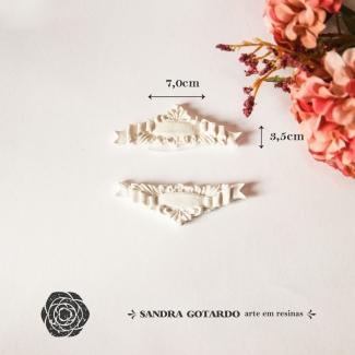 Aplique Resina Arabesco - ARA025 - Sandra Gotardo