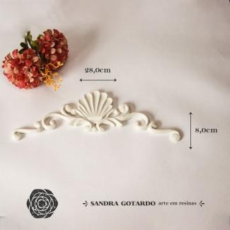 Aplique Resina Arabesco - ARA026 - Sandra Gotardo