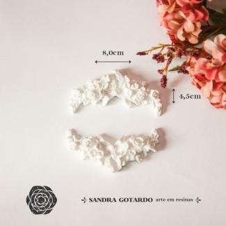 Aplique Resina Arabesco Floral (2un) - AF011 - Sandra Gotardo