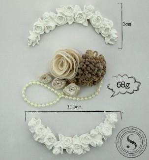Aplique Resina Arabesco Floral - AF004 - Sandra Gotardo