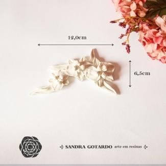 Aplique Resina Arabesco Floral - AF010 - Sandra Gotardo