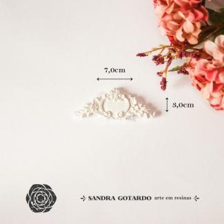 Aplique Resina Arabesco Floral - AF012- Sandra Gotardo