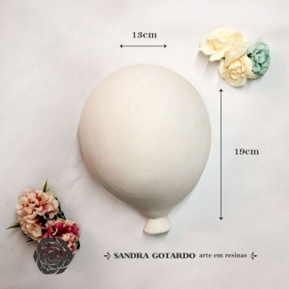 Aplique Resina  Balão GG  - AI044 - Sandra Gotardo