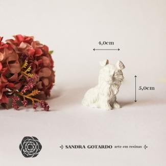 Aplique Resina Cachorro 3D - DC017 - Sandra Gotardo